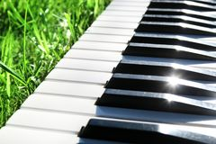 Piano Keyboard outdoor Royalty Free Stock Images