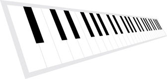 Piano keyboard in perspective Stock Photos