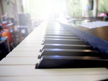 Piano Keyboard. The Music Instrument in Jazz Concert Royalty Free Stock Photography
