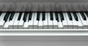 Piano keyboard with pressed keys Royalty Free Stock Photo