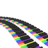 Piano keyboard in rainbow colors Royalty Free Stock Photo