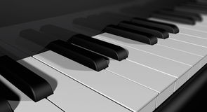 A piano keyboard Stock Image