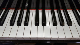 Piano keyboard with reflection Royalty Free Stock Photography