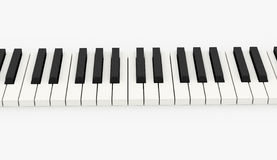 Piano keyboard rendered on white Royalty Free Stock Photos