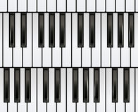 Piano Keyboard Seamless. Royalty Free Stock Image
