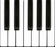 Piano keyboard section Stock Photos
