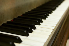 Piano keyboard. With selective focus Stock Photography