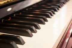 Piano keyboard with selective focus Stock Photography