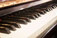 Piano keyboard with selective focus Stock Image
