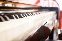 Piano keyboard with selective focus Royalty Free Stock Images