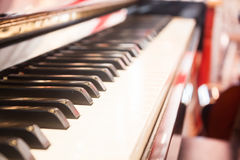 Piano keyboard with selective focus Royalty Free Stock Photography
