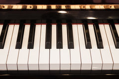 Piano keyboard with selective focus Stock Photos