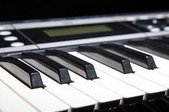 Piano keyboard in shadow Stock Photo