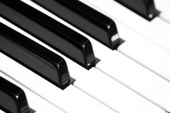 Piano keyboard with shallow depth of field Stock Photos