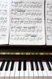 Piano keyboard and sheel music royalty free stock images