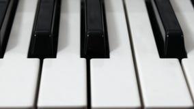 Piano keyboard slide stock video footage
