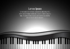 Piano keyboard and space for text background Royalty Free Stock Photography