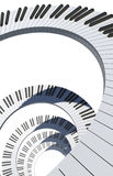 Piano keyboard spiral. 3D illustration Royalty Free Stock Images