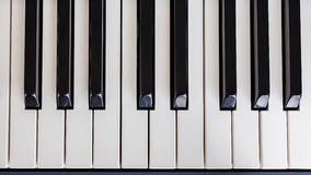 Piano Keyboard synthesizer closeup key top view Stock Photos