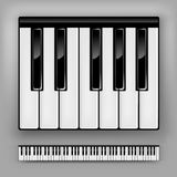 Piano Keyboard. Vector piano keyboard. One octave or full 88 keys Stock Photos