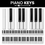 Piano Keyboard Vector. Realistic Isolated Illustration. Musical Piano Key Top View. Keyboard Pad Royalty Free Stock Images