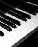 Piano keyboard - vertical Royalty Free Stock Photography