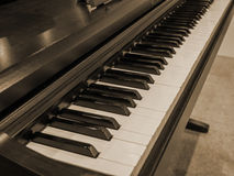 Piano keyboard, vintage filters. Royalty Free Stock Photo
