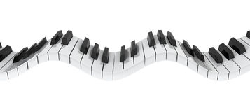 Piano keyboard wave Royalty Free Stock Images