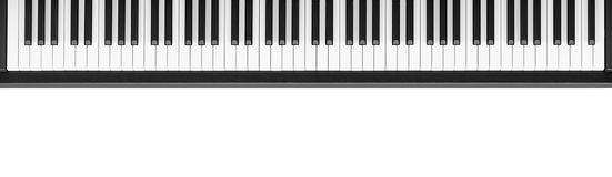 Piano keyboard on white background Royalty Free Stock Image