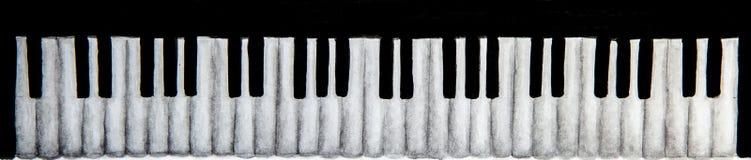Piano keyboard on white background