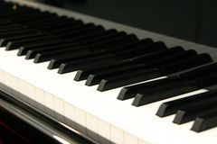 Piano Keyboard. White and black keys of the piano keyboard Royalty Free Stock Photo