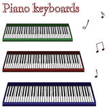 Piano keyboards against white. Background, abstract vector art illustration Stock Photography