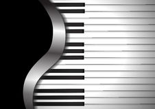Piano keyboards on black background Royalty Free Stock Photo