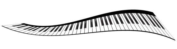 Piano keyboards set Stock Photography
