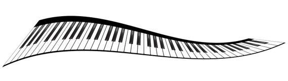 Piano keyboards set Stock Image