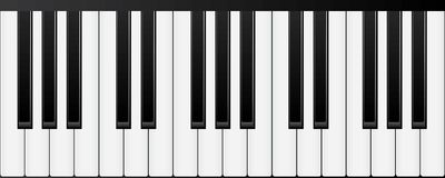 Piano keyboards. Various angles and views. Vector Illustration vector illustration