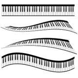 Piano keyboards Royalty Free Stock Photos