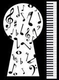 Piano Keyhole Stock Images