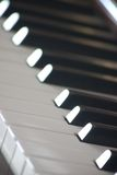 Piano keys. Some piano keys, blurred but one black Stock Photo