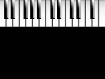 Piano keys. Keys of piano over black background to insert your text or design Royalty Free Stock Photography