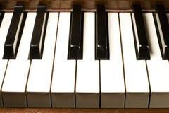 Piano Keys. Close up of piano keys Stock Photo