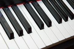 Piano keys. Fingerboard of a piano Royalty Free Stock Photography