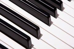 Piano keys. The piano keys. music instrument Royalty Free Stock Photos