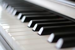 Piano Keys. Perspective of a piano keyboard Royalty Free Stock Photo