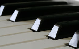 Piano keys. Macro shot of piano keys Stock Images