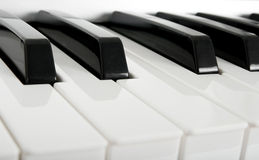 Piano keys. Close-up of electric piano keys Royalty Free Stock Images