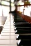 Piano keys. The black and white piano keys close up Royalty Free Stock Photos