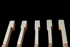 Piano keys. In the disassembled kind close up Stock Photography