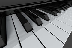 Piano keys. Grand piano keys on light background. Close-up view Stock Photos