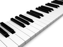 Piano keys. Abstract 3d illustration of piano keys white background Royalty Free Stock Image